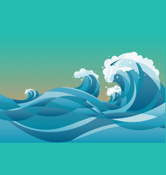 High tide water waves background vector