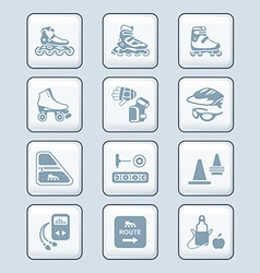 Inline skating icons - TECH series vector image vector image