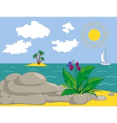 island view vector image