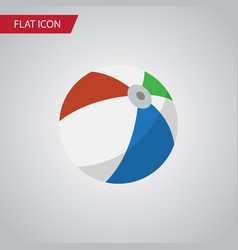 isolated ball flat icon sphere element can vector image