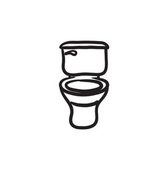Lavatory bowl sketch icon vector