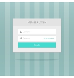 Login box form ui interface element signin screen vector image