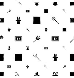 magic icons pattern seamless white background vector image