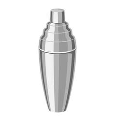 Metal cocktail shaker vector