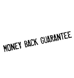 Money back guarantee stamp vector