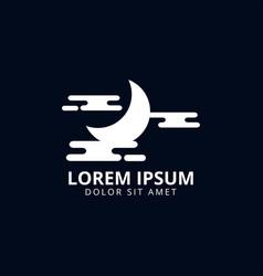 moon logo design template vector image