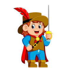 musketeer with sword vector image