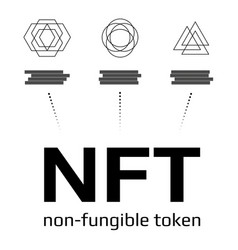 Nft non fungible tokens infographics isolated vector