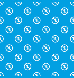 no cockroach sign pattern seamless blue vector image