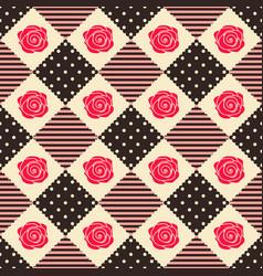 Pattern rose geometry vector