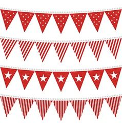 Patterned flag set vector image