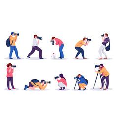Photographers professional cartoon people vector