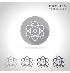 Physics outline icon vector image