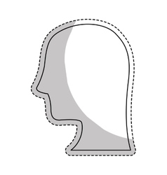 profile head icon vector image