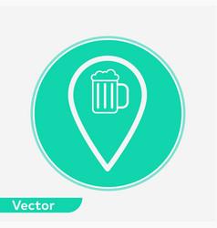 pub location icon sign symbol vector image