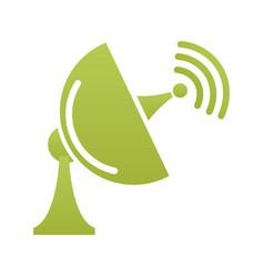 Satellite antenna communication signal technology vector