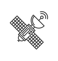 Satellite icon on white background line style vector