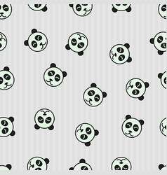 Seamless pattern panda sleeping animal vector