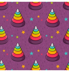 Seamless pattern with colorful toy pyramid for vector