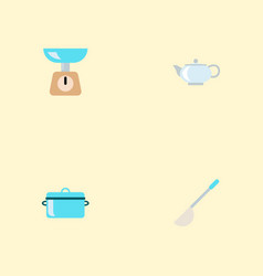 set of cooking icons flat style symbols with ladle vector image