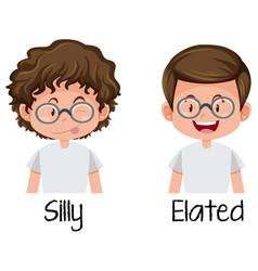 set of nerd boy character vector image