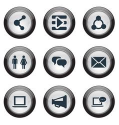 Set of simple media icons elements web megaphone vector
