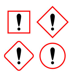 set of the attention icons vector image
