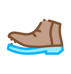 shoe torn sole icon outline vector image