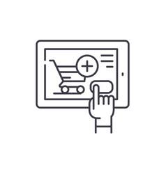 shop online line icon concept shop online vector image