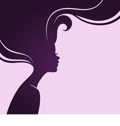 silhouette hair vector image