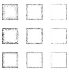 Square Shape Set vector