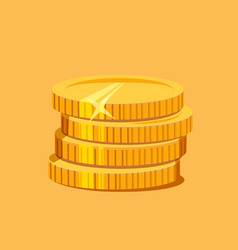 Stack of gold coins vector