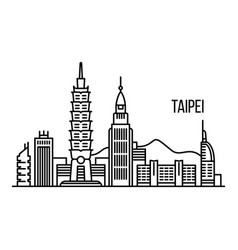 Taipei metropolis concept background outline vector