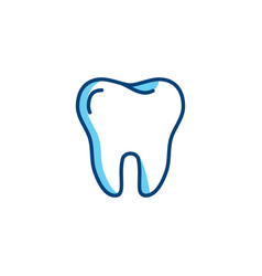 Tooth icon dentist colorful logo dental care or vector