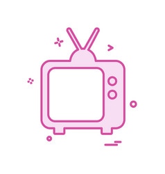 tv icon design vector image