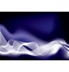 virtual wave space blue vector image