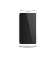 white mobile phone with black blank display vector image