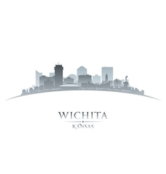 Wichita Kansas city skyline silhouette vector image