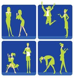 Women in office vector image