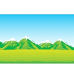 Year field and mountains vector image