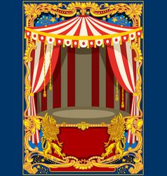 carnival poster frame vector image vector image