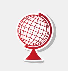 earth globe sign new year reddish icon vector image