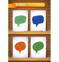 Nature leaves bubble collection leaf vector image