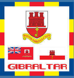 Official government ensigns of gibraltar vector