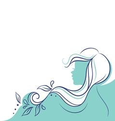 profile woman vector image vector image