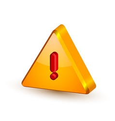 Security alert triangle symbol vector