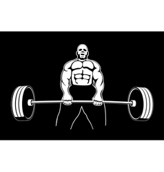 body builder 3 vector image