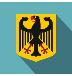 Coat of arms of Germany icon flat style vector image vector image