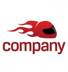 sport helmet logo vector image vector image