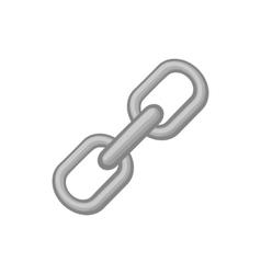 Chain icon black monochrome style vector image vector image